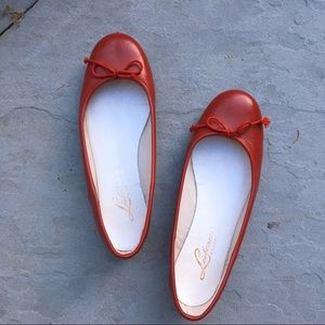 Red Portuguese Leather Flats